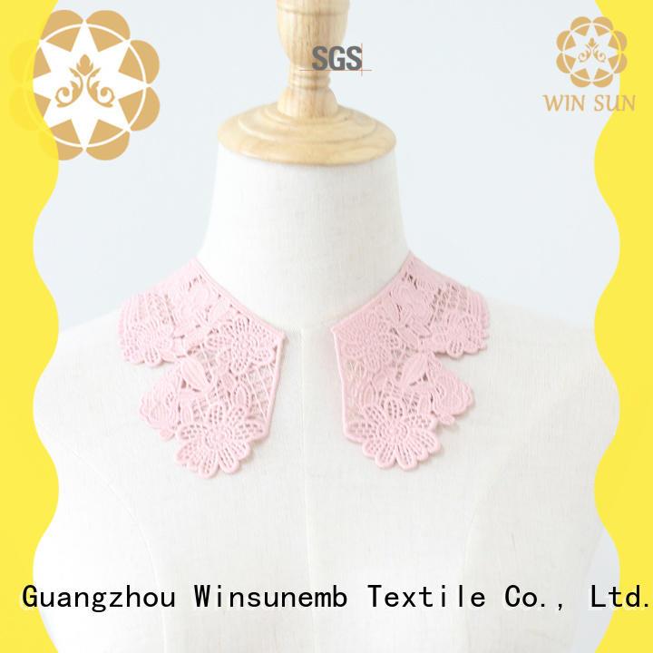 Winsunemb superior lace motif factory price for Lingerie