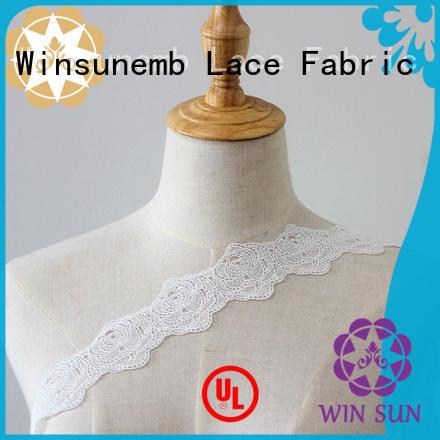 Winsunemb soft stretch lace trim in china for fashion garment