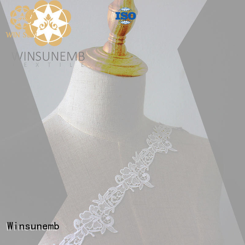 Winsunemb high-end stretch lace trim for manufacturer for DIY
