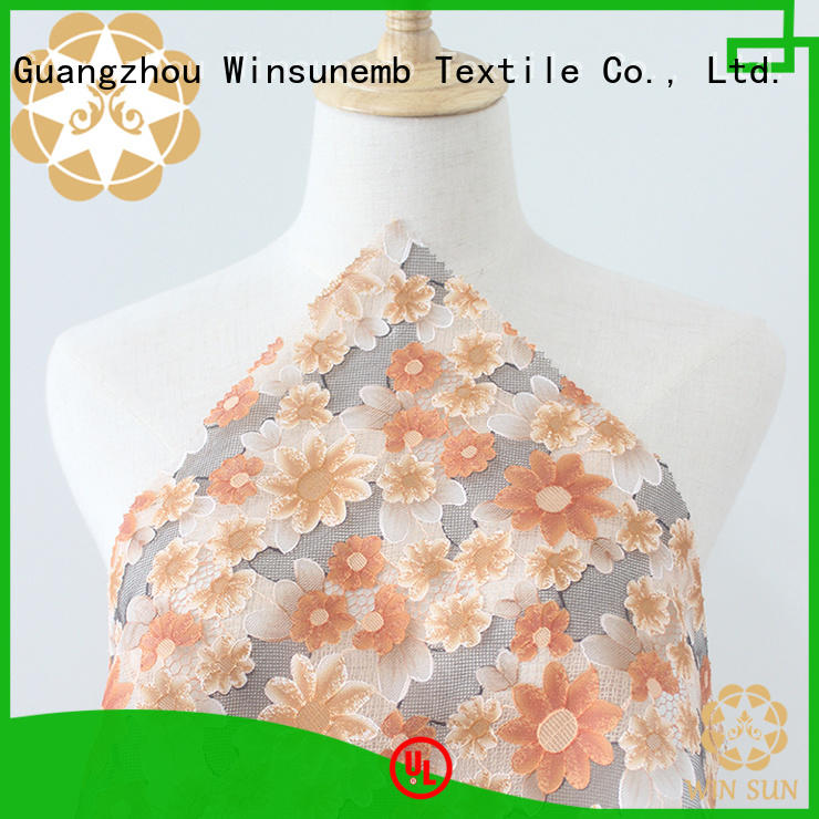 smooth printed lace fabric printed in china for cloth