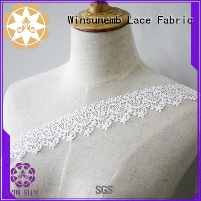 Chemical Embroidery Lace Trim White For Lingerie Garment Dress 2019
