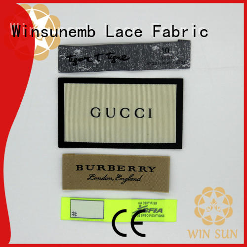 Winsunemb labels custom clothing labels in china for dresses
