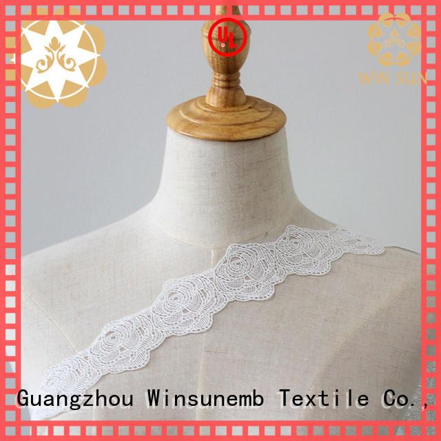 Winsunemb elastic laces order now for fashion garment