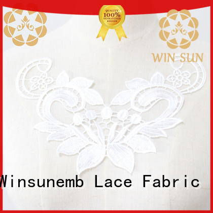 Winsunemb attractive lace neckline wholesale for clothing collars
