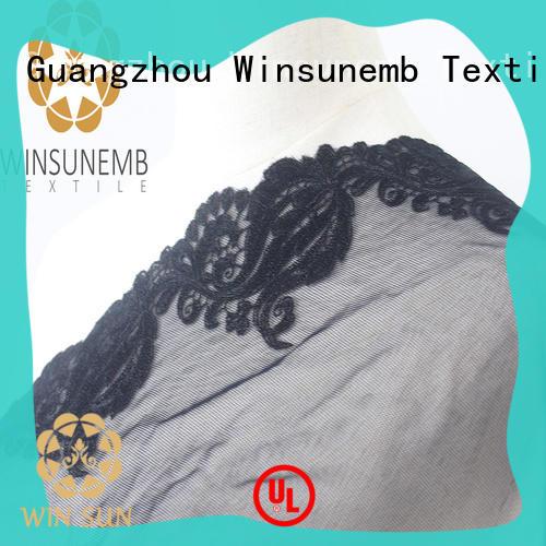 Winsunemb scalloped lace fabric for DIY