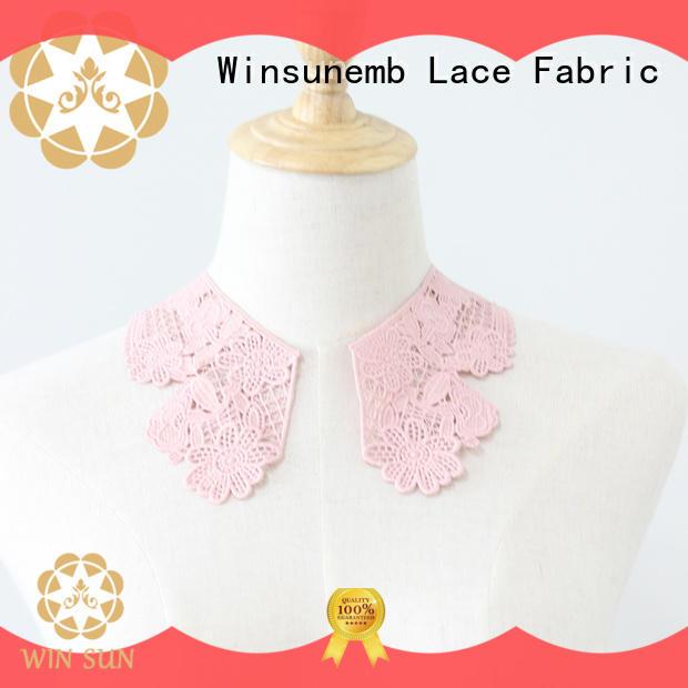 Winsunemb fashion design embroidery lace motif in china for decorate