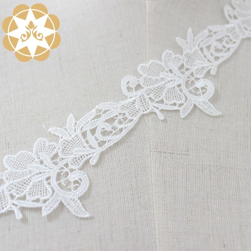 soft lace ribbon cotton bulk production for fashion garment-3