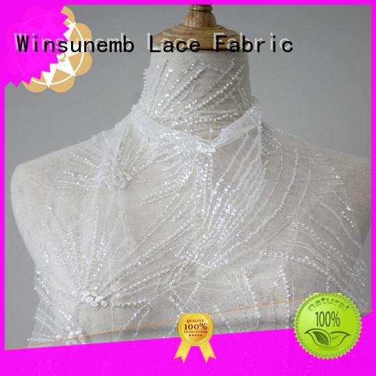 winsunemb2019 lace fabric wholesale for manufacturer for apparel Winsunemb