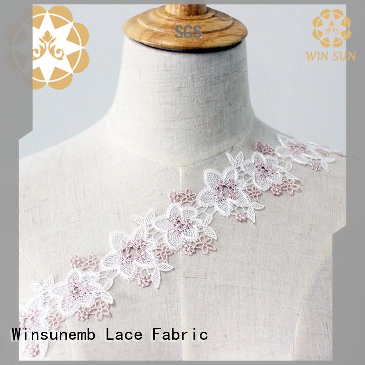 Winsunemb wide stretch lace trim producer for lingerie