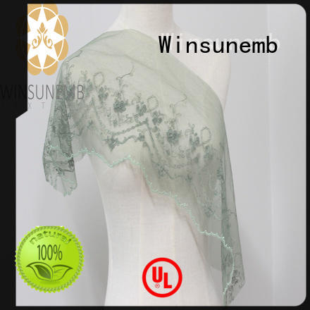 Winsunemb small stretch lace fabric for fashion garment