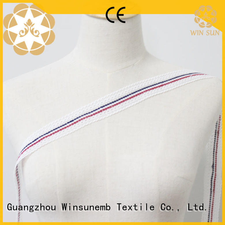 white chemical Winsunemb Brand stretch lace factory