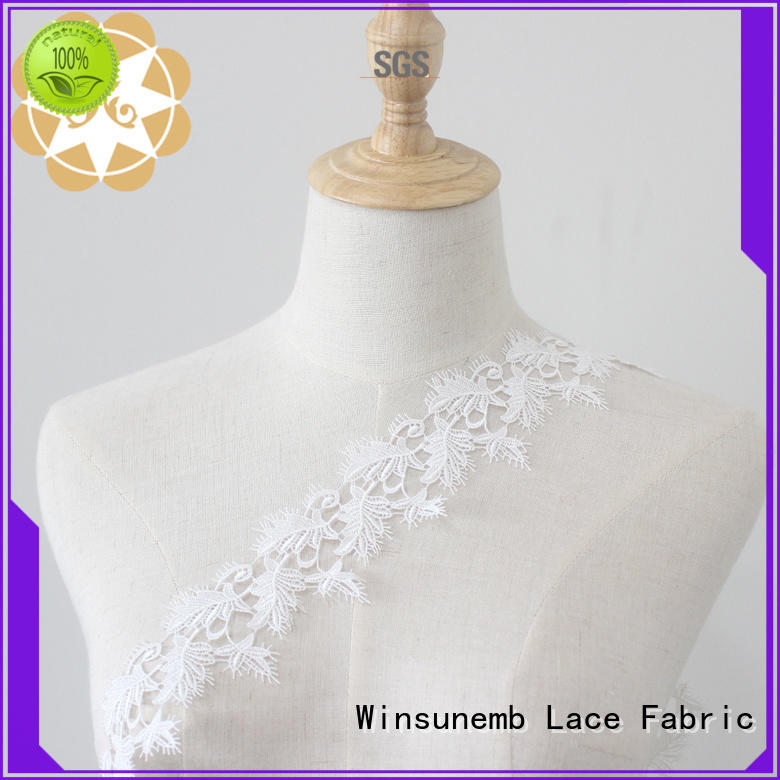 Winsunemb round Embroidery Lace Trimming producer for fashion garment