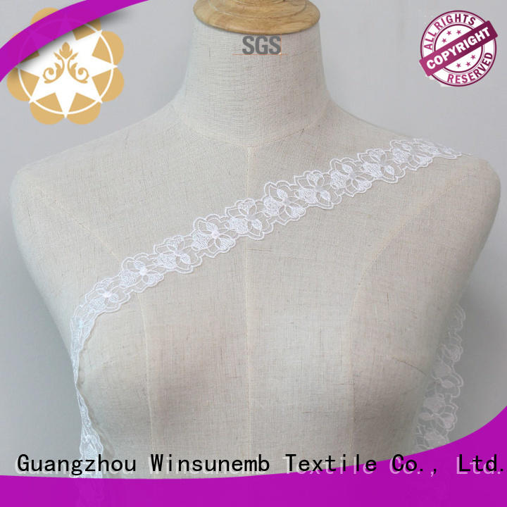 2019 GuangzhouTextile Net Embroidery French Lace Trim for Bridal