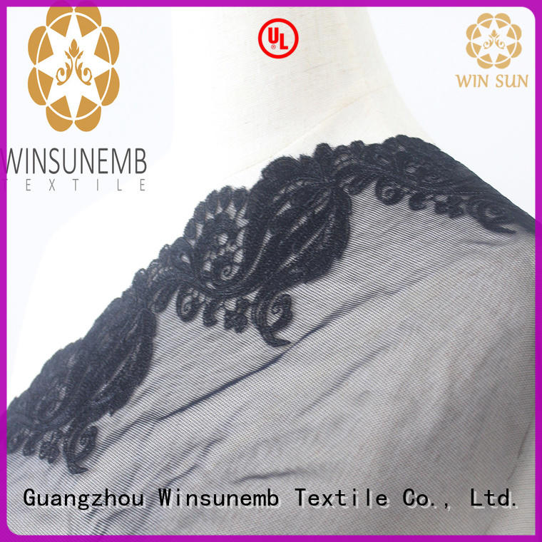 Winsunemb fine qualtiy Embroidery Lace Trimming in china for lingerie