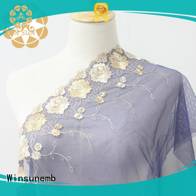 Winsunemb mulberry lace trim by the yard in china for bedclothes