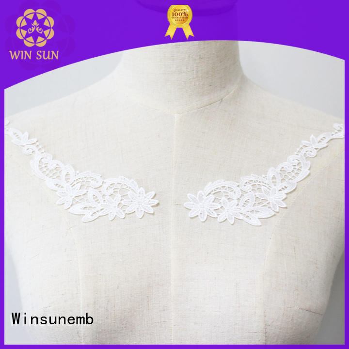 superior embroidery lace motif bulk production for Lingerie