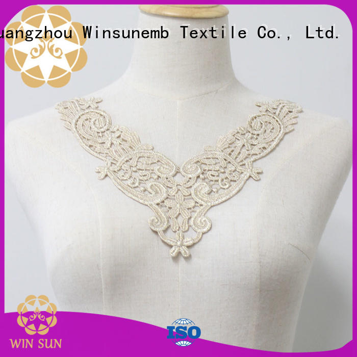 Winsunemb french lace neckline directly sale for decorate