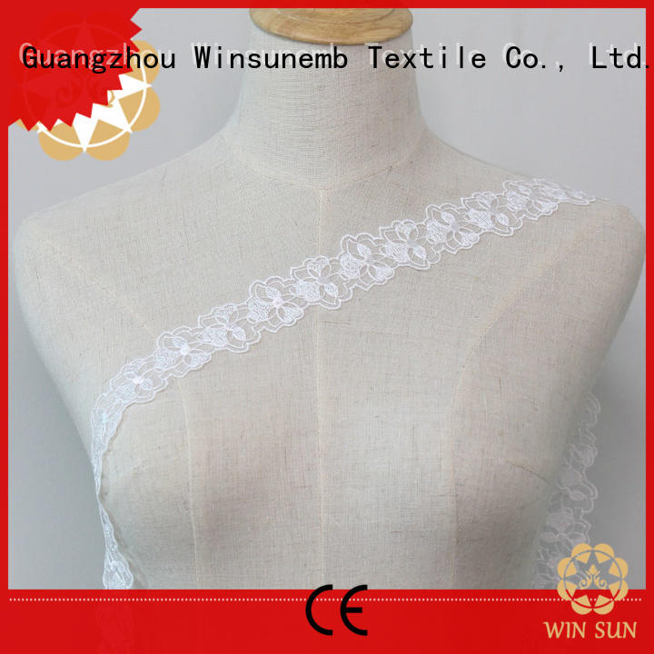 Winsunemb high-end stretch lace fabric order now for bedclothes