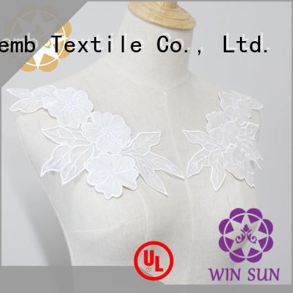 Winsunemb applique lace motif wholesale for chest corsage
