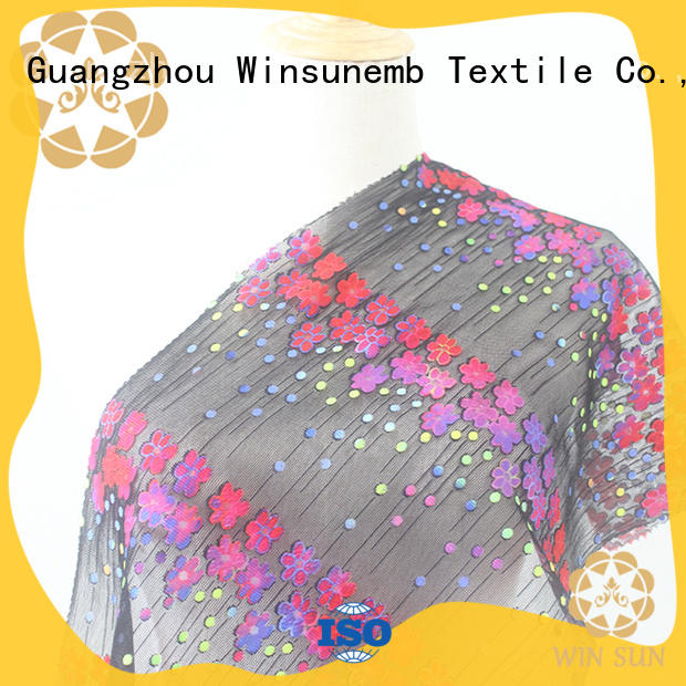 soft printed lace fabric many in china for auto fabric