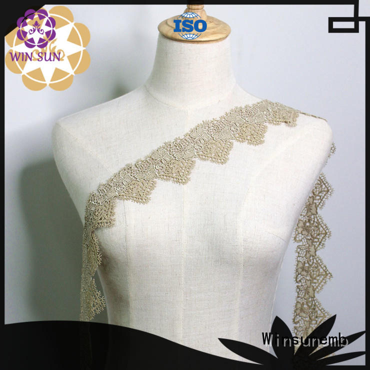 Winsunemb Brand cut newest design Embroidery Lace Trimming