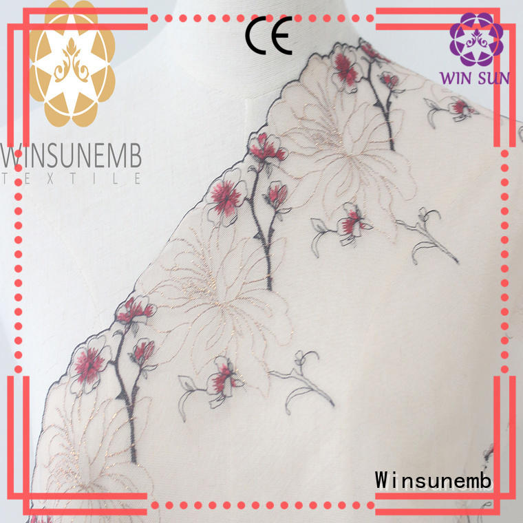 Winsunemb high quality lace trim by the yard for manufacturer for fashion garment