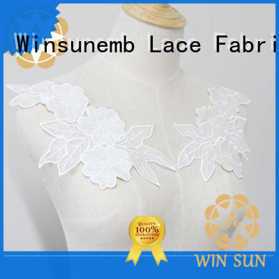 Winsunemb bridal lace neckline for manufacturer for clothing collars
