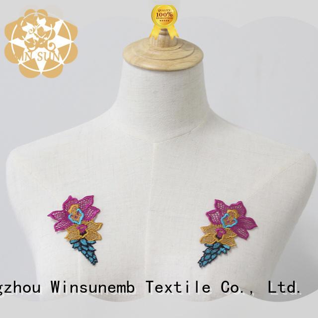 fashion design embroidery lace motif decoration bulk production for Lingerie