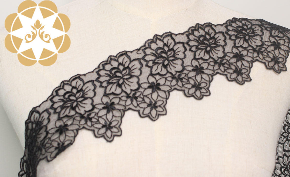 fine qualtiy Embroidery Lace Trimming graceful order now for lingerie-2