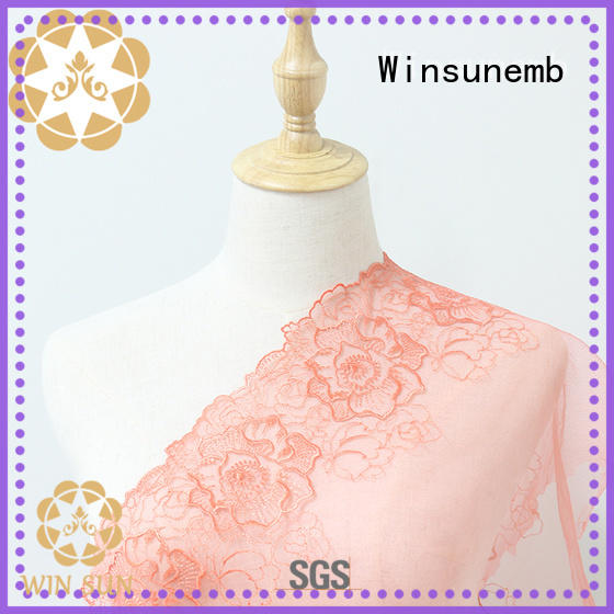 Winsunemb Embroidery Lace Fabric bulk production for underwear