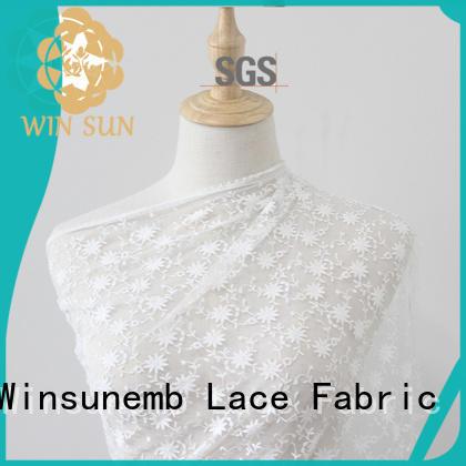 Winsunemb vintage lace for apparel