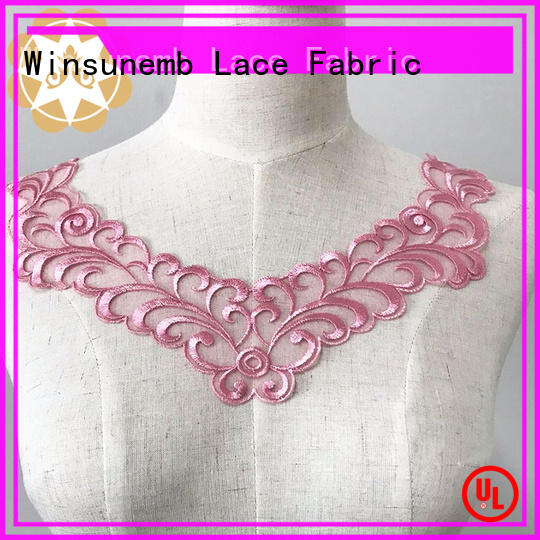 fashion design lace motif bridal factory price for clothing collars