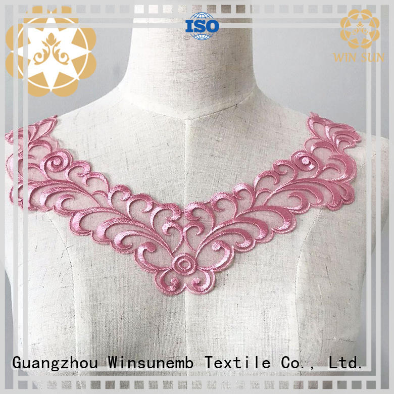 Winsunemb good looking embroidery lace motif in china for decorate