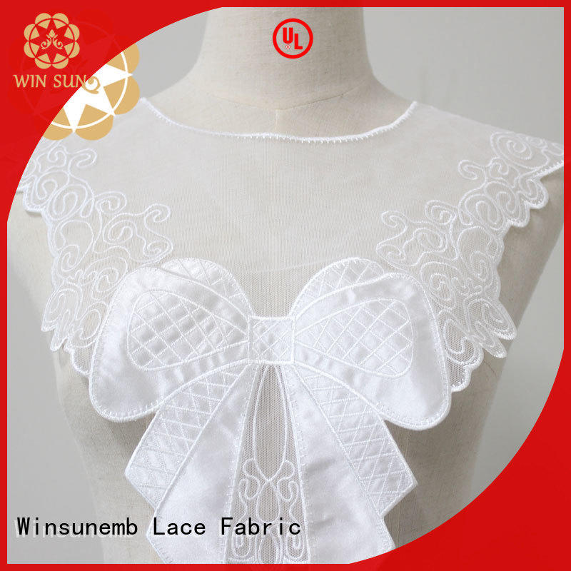 fashion design lace neckline guipure directly sale for clothing collars
