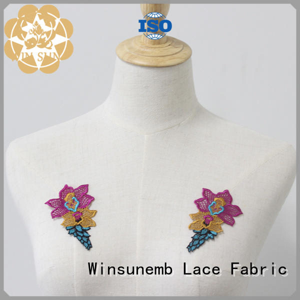 Winsunemb attractive embroidery lace motif directly sale for DIY