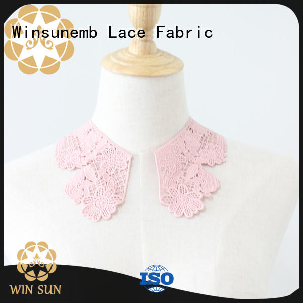 Winsunemb exquisite lace neckline in china for chest corsage