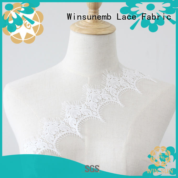 Winsunemb pattern elastic laces in china for bedclothes