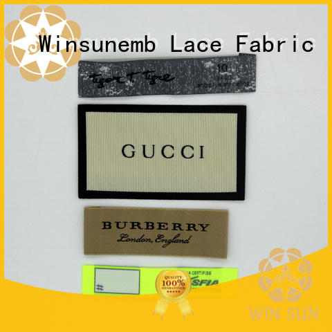 Winsunemb durable woven labels for manufacturer for dresses
