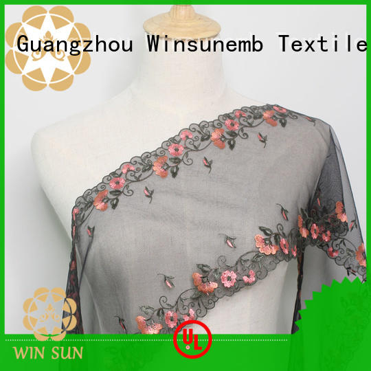Winsunemb soft lace fabric wholesale for manufacturer for underwear