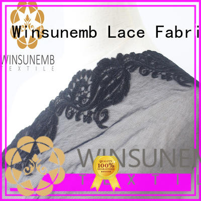 Winsunemb soft lace trim bulk production for lingerie