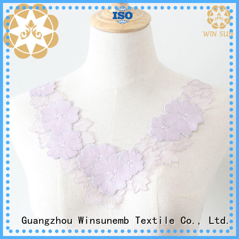 Winsunemb accessories lace motif wholesale for clothing collars