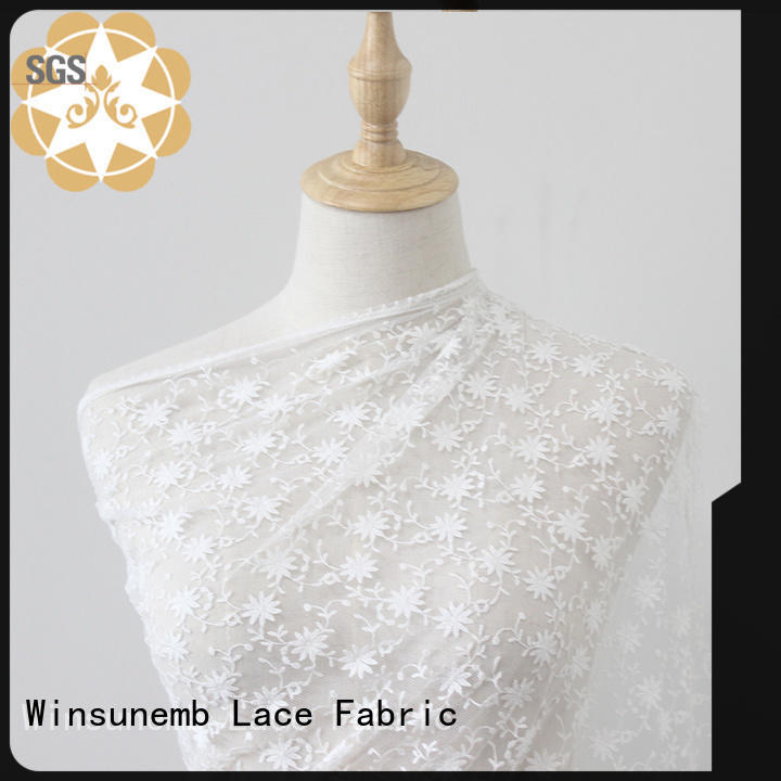 Winsunemb red luxury lace for manufacturer for underwear