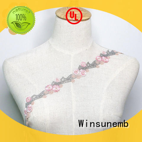 Newest Design Embroidery Lace Trim For Lingerie Dress