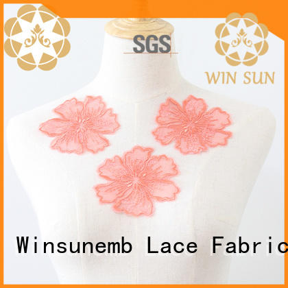 fashion design lace neckline embroidered in china for decorate