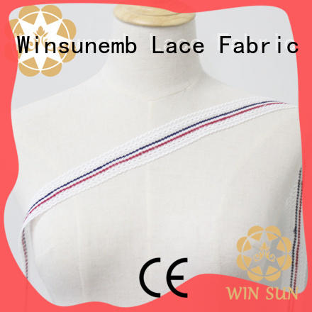 Winsunemb much stretch lace fabric for fashion garment