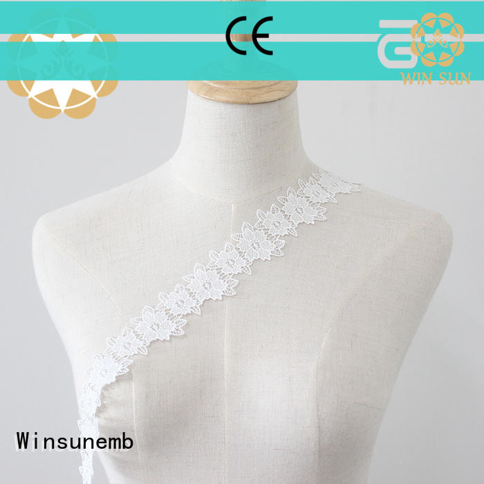 Winsunemb red stretch lace trim in china for DIY