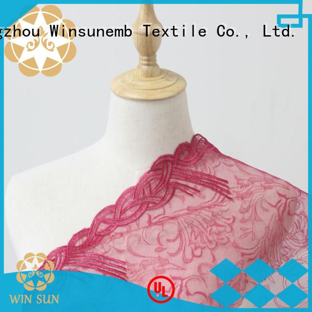 wear style Winsunemb Brand red lace fabric factory