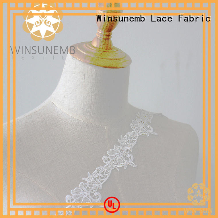 Winsunemb high-end lace ribbon in china for DIY