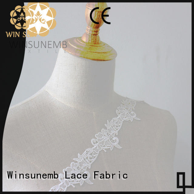 Winsunemb high quality stretch lace fabric shop now for lingerie