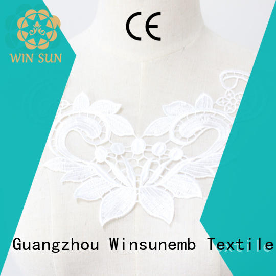 Winsunemb exquisite lace motif for manufacturer for decorate